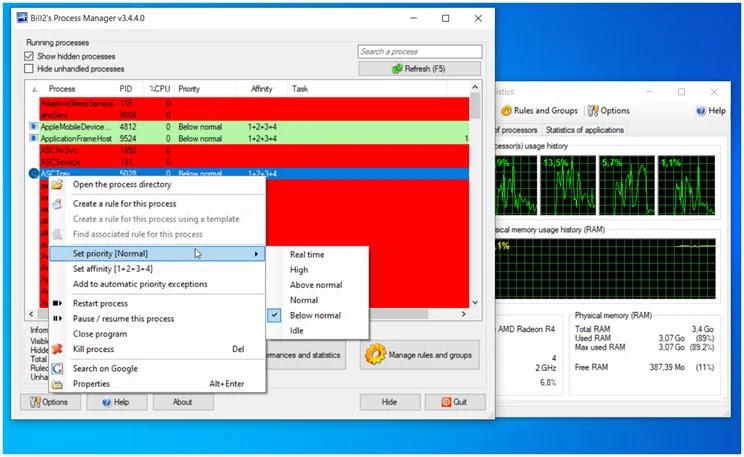 Bill2's Process Manager :   Η πιο ολοκληρωμένη  δωρεάν  εφαρμογή ελέγχου  διαχείρισης των διαδικασιών στον υπολογιστή σας