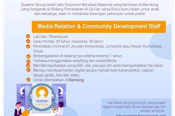 Lowongan Kerja Staff Syaamil Group Bandung