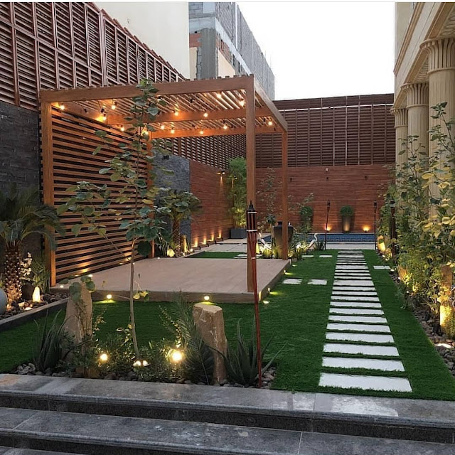 شركة تنسيق حدائق تصميم جلسات حدائق خارجية تنسيق حوش المنزل