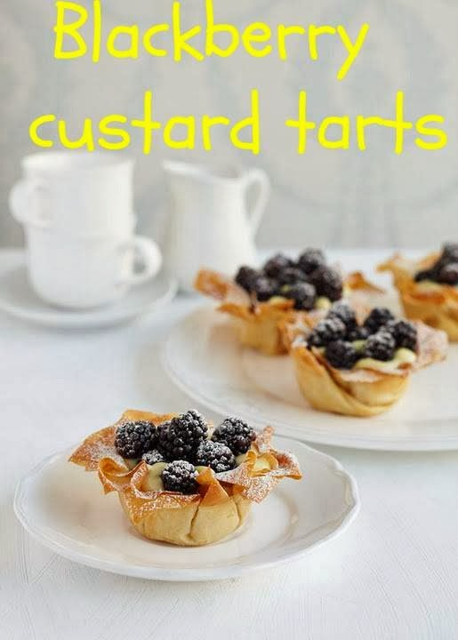 Blackberry Custard Tarts: Afternoon Tea Recipe