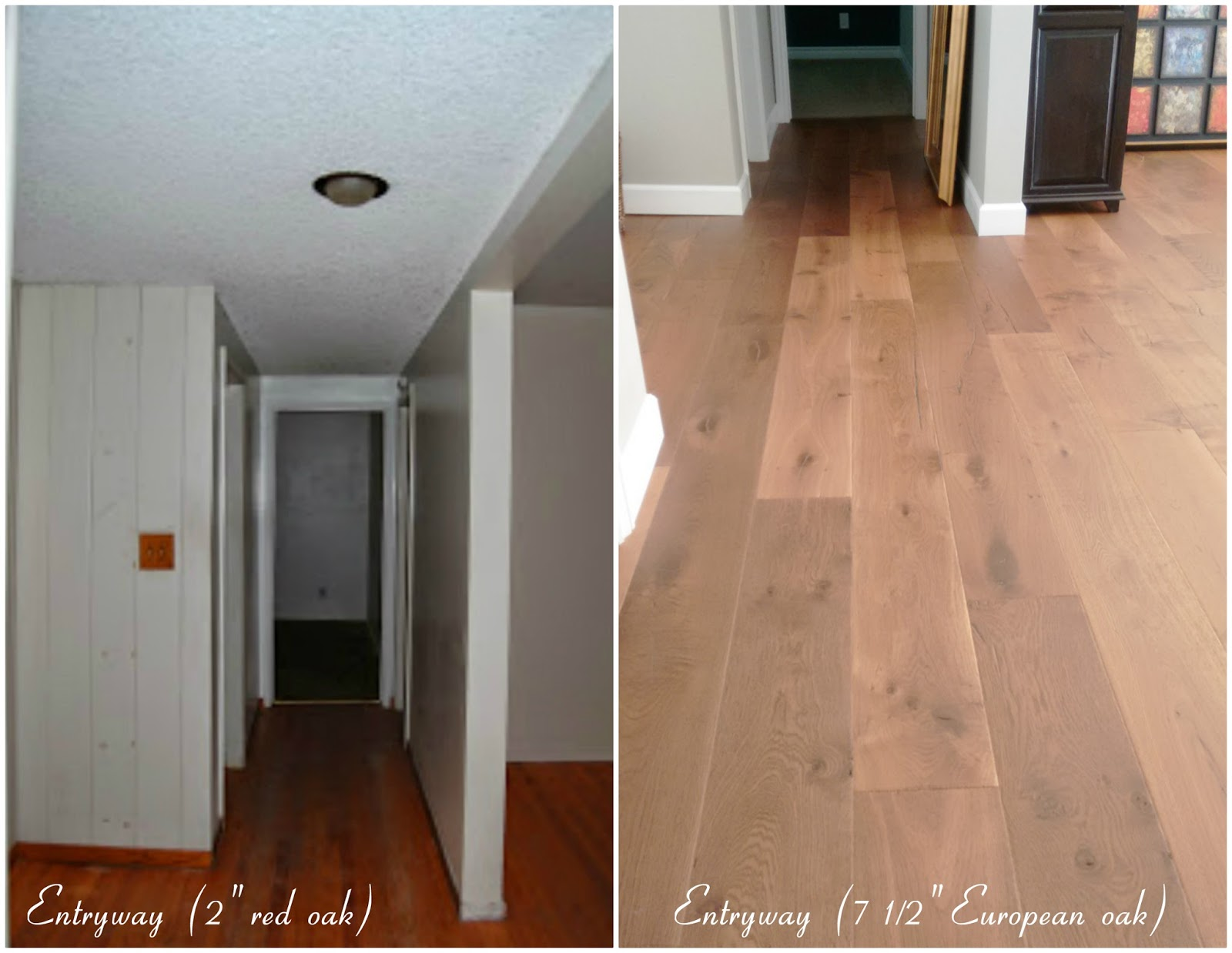 home renovation remodel improvement wide plank oak hardwood flooring