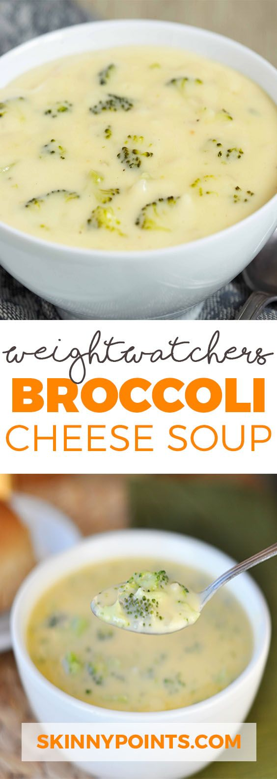 Weight Watchers Broccoli Cheese Soup #broccoli #cheese #broccolisoup #soup #souprecipes #healthysouprecipes
