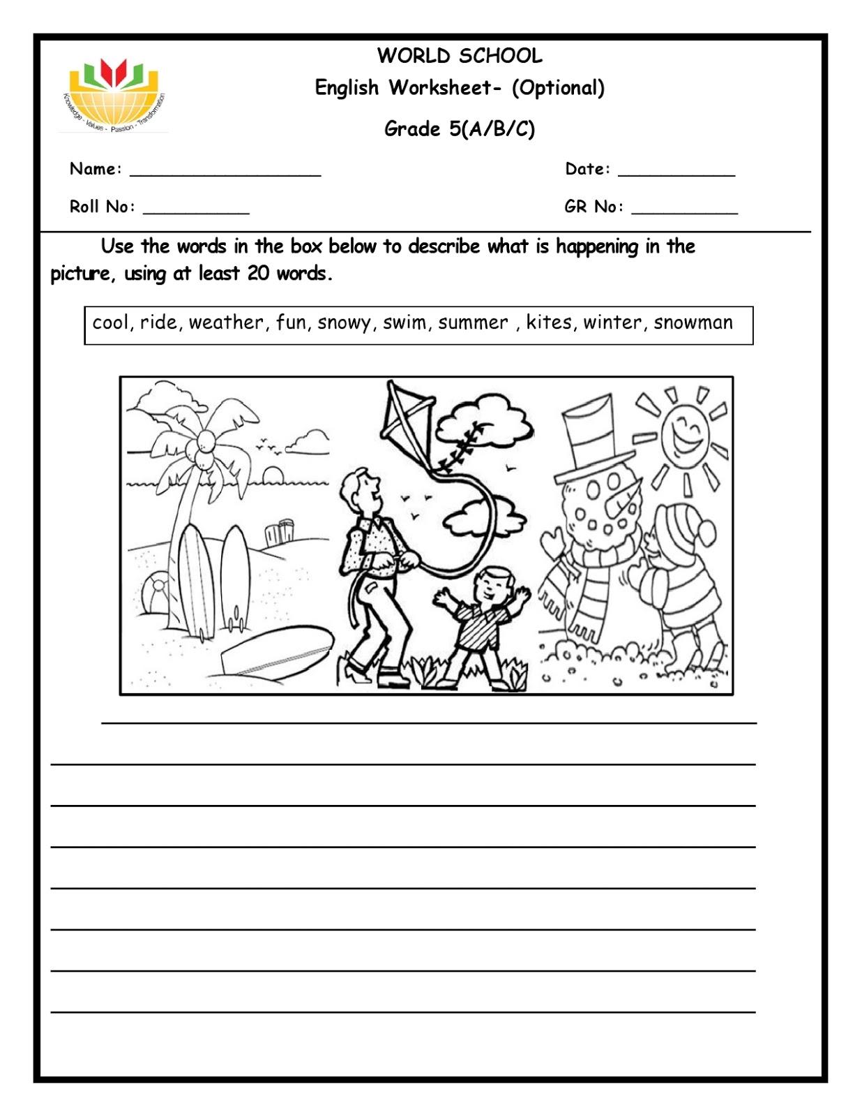 WORLD SCHOOL OMAN: Homework for Grade 5 as on 03/03/2020 [ 1600 x 1236 Pixel ]