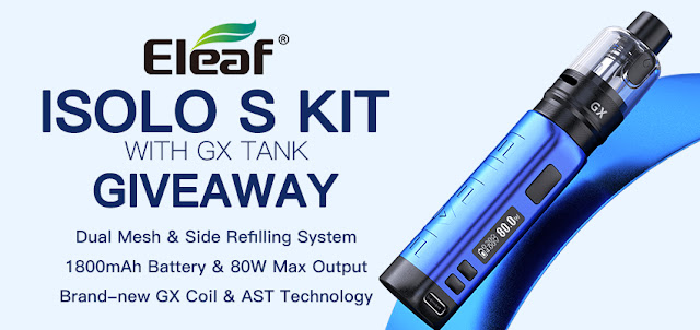 This is your chance to stock up on free iSolo S Kit with GX Tank