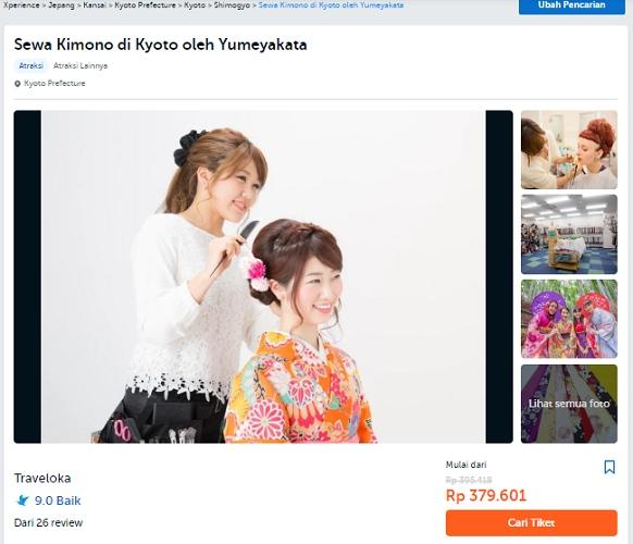 sewa kimono di kyoto menuntaskan rindu pada jepang dengan traveloka xperience