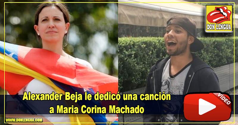 Alexander Beja le dedicó una canción a Maria Corina Machado