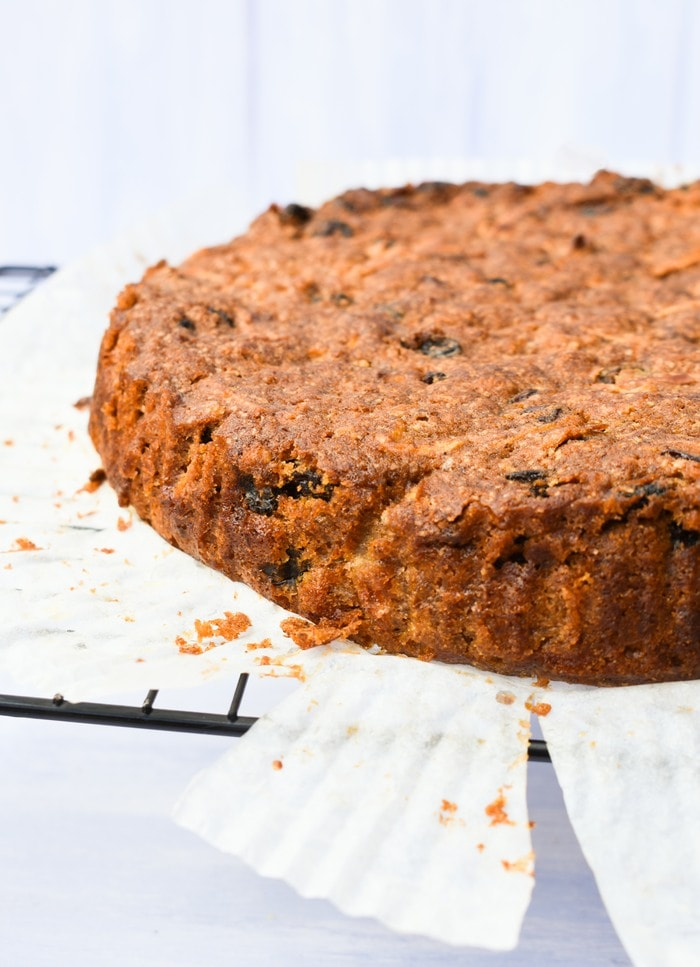 Close up of Red Apple & Treacle Fruit Cake
