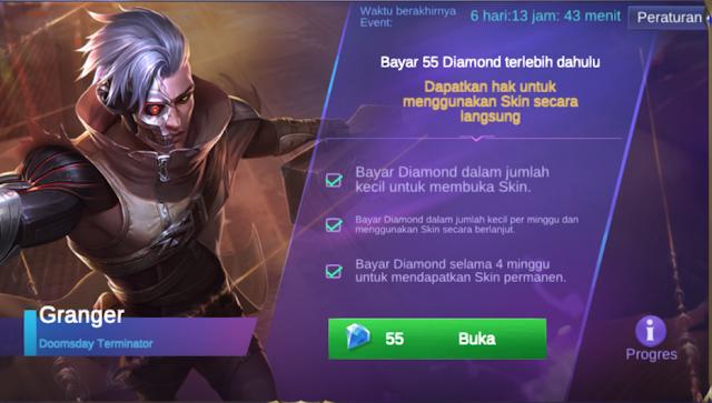 Bayar Cicilan Skin Mobile Legends Granger Doomsday Terminator
