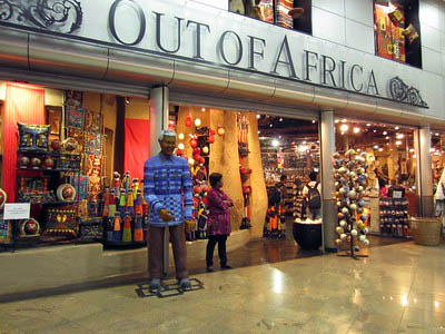 Out of Africa shop Johannesburg South Africa.