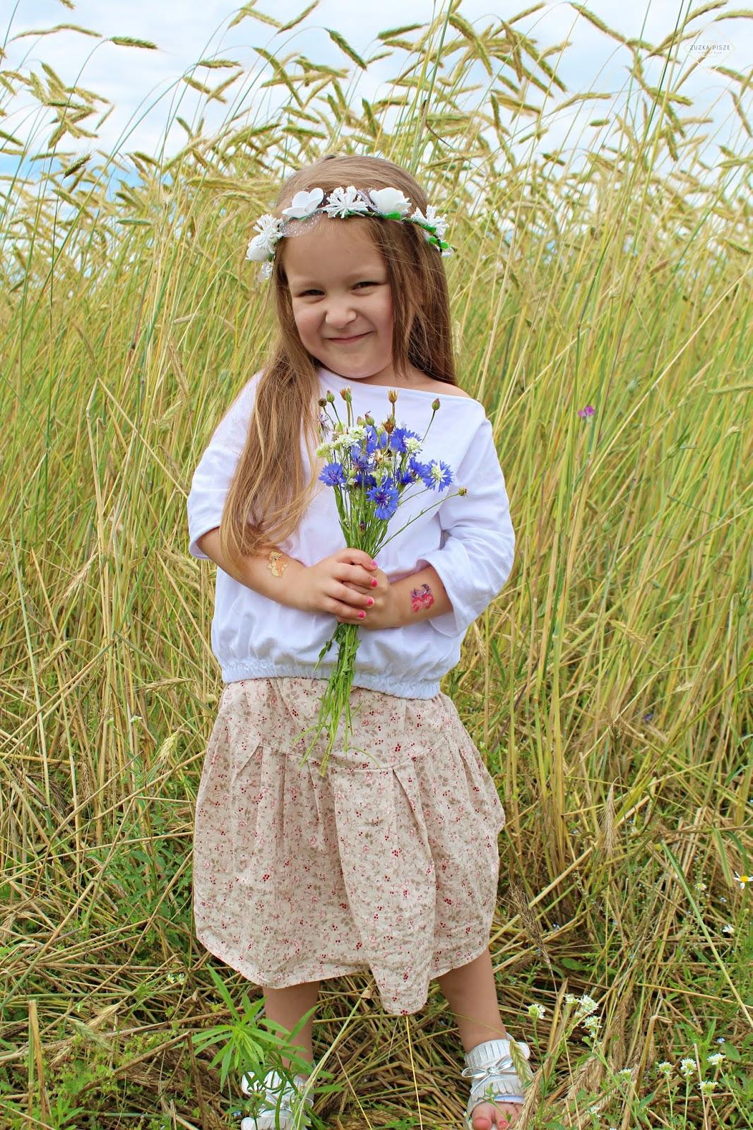 lniana spódniczka dla dziewczynki bohemian youngster