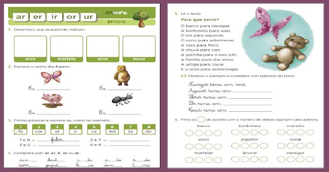 Confira Atividades de Ortografia prontos para imprimir com sílabas complexas - AR - ER - IR - OR - UR. Esses exercícios são indicados a alunos do primeiro ano do Ensino Fundamental.