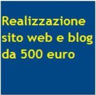 Offerta realizzazione siti web 500 euro