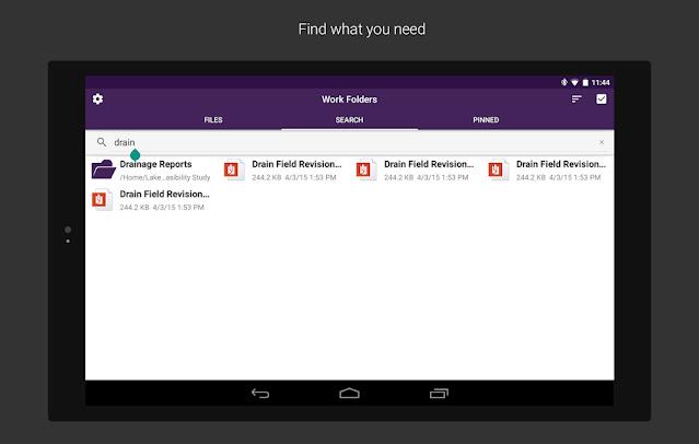 Work Folders Free Android App on Apcoid.com