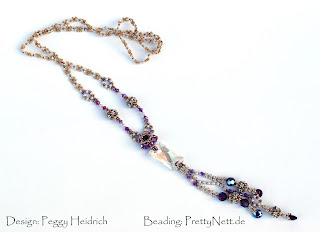 "Necklace ""Ally"" beaded by PrettyNett.de"