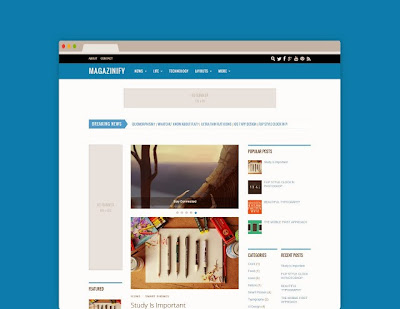 Magazinify Responsive Blogger Template