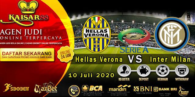 Prediksi Bola Terpercaya Liga Italia Verona vs Inter Milan 10 Juli 2020