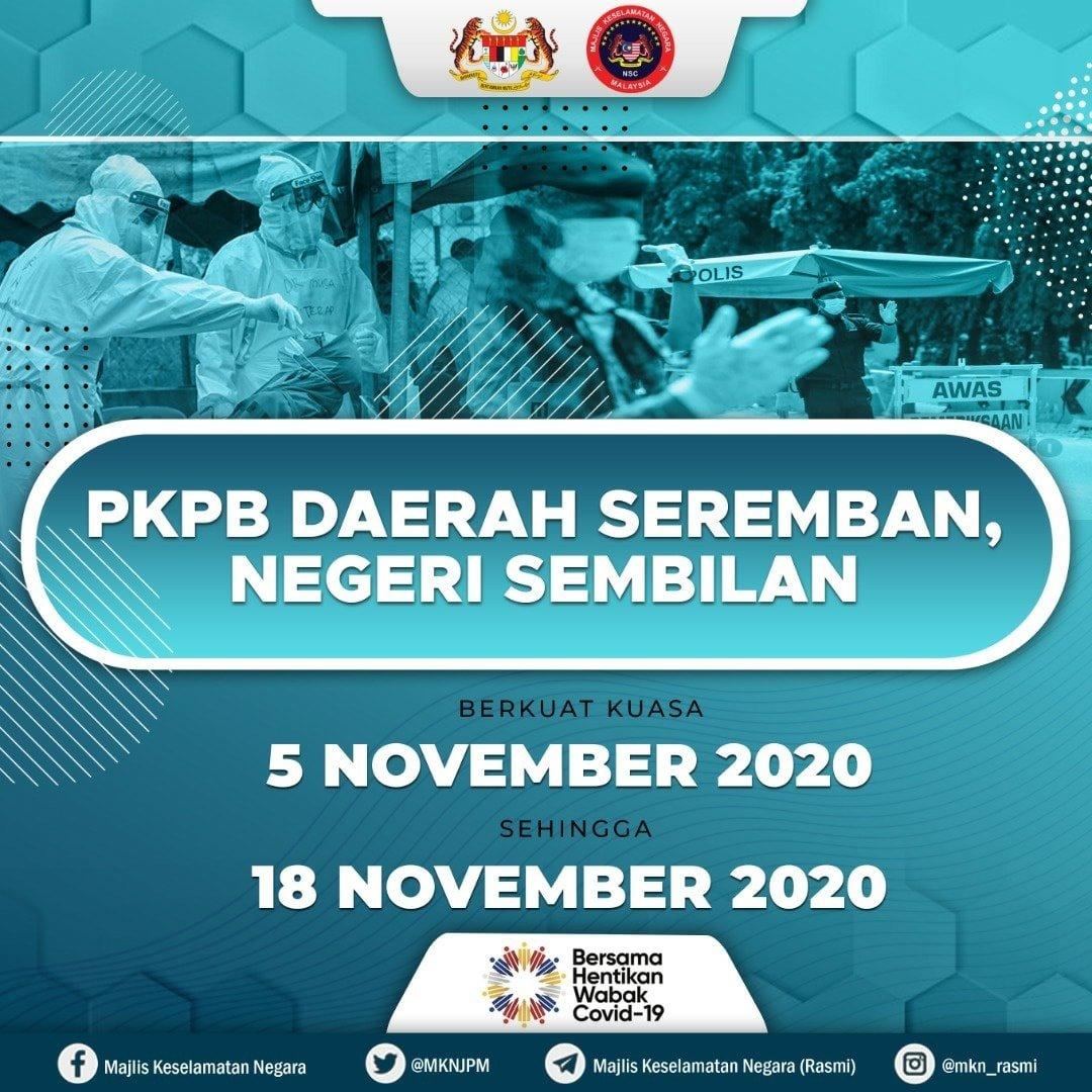 PKPB Seremban 5 Nov-18 Nov 2020