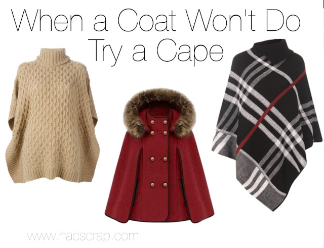 Different Style Capes - a cape can make a great fashion accessory