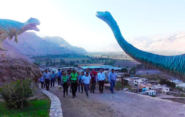 Parque Jurásico de Querulpa en Arequipa