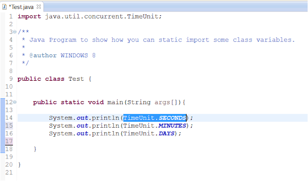 How to import static variable in Eclipse