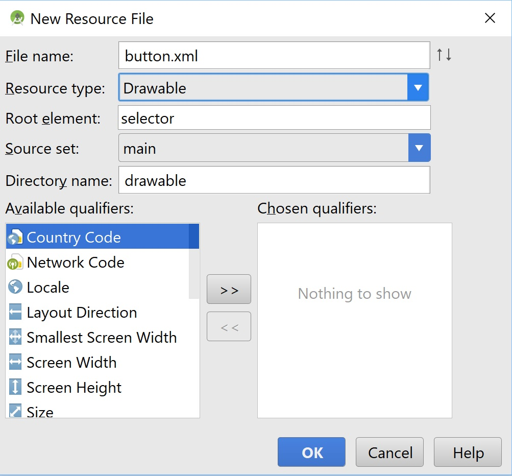 Add resource file android apk