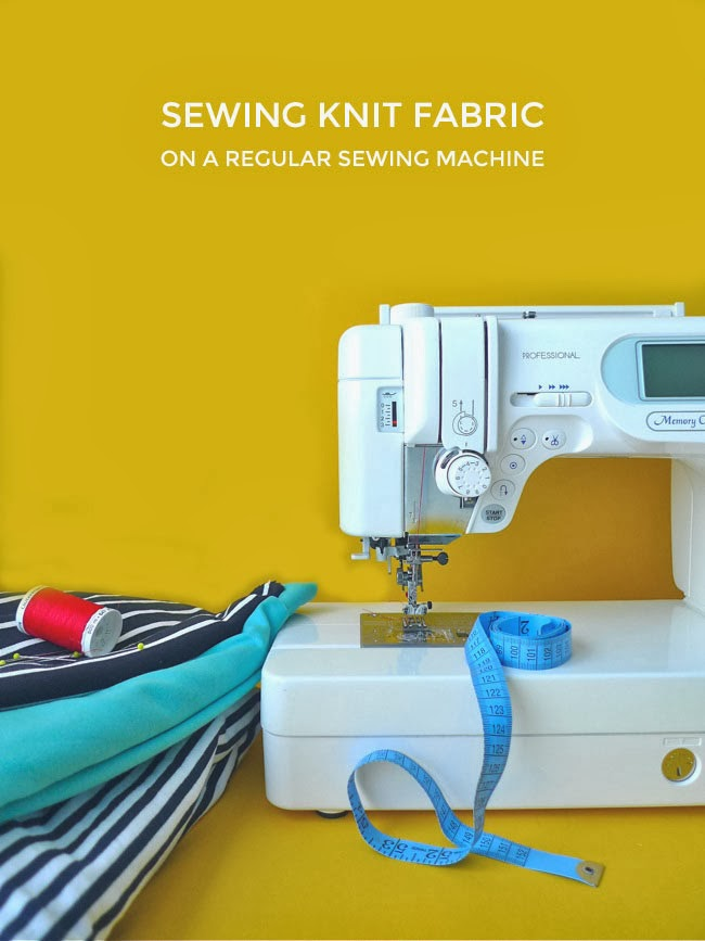Tilly And The Buttons Sewing Knit Fabric On A Regular Sewing Machine Impressive How To Sew Using Sewing Machine