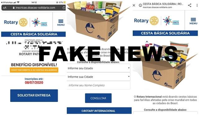 Vídeo: Clubes de Rotary de Patos- PB alertam sobre Fake News de distribuição de Cestas Básicas