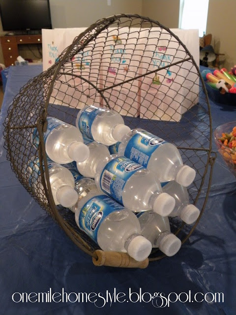 Water theme birthday party-water basket