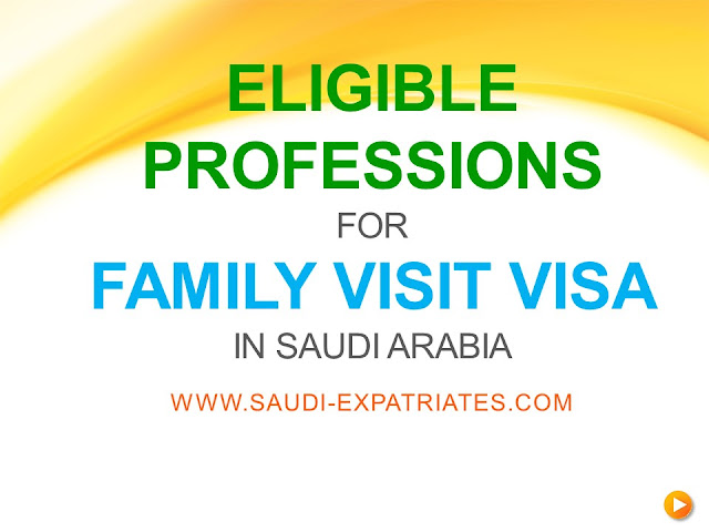 ELIGIBLE PROFESSIONS FOR FAMILY VISIT VISA