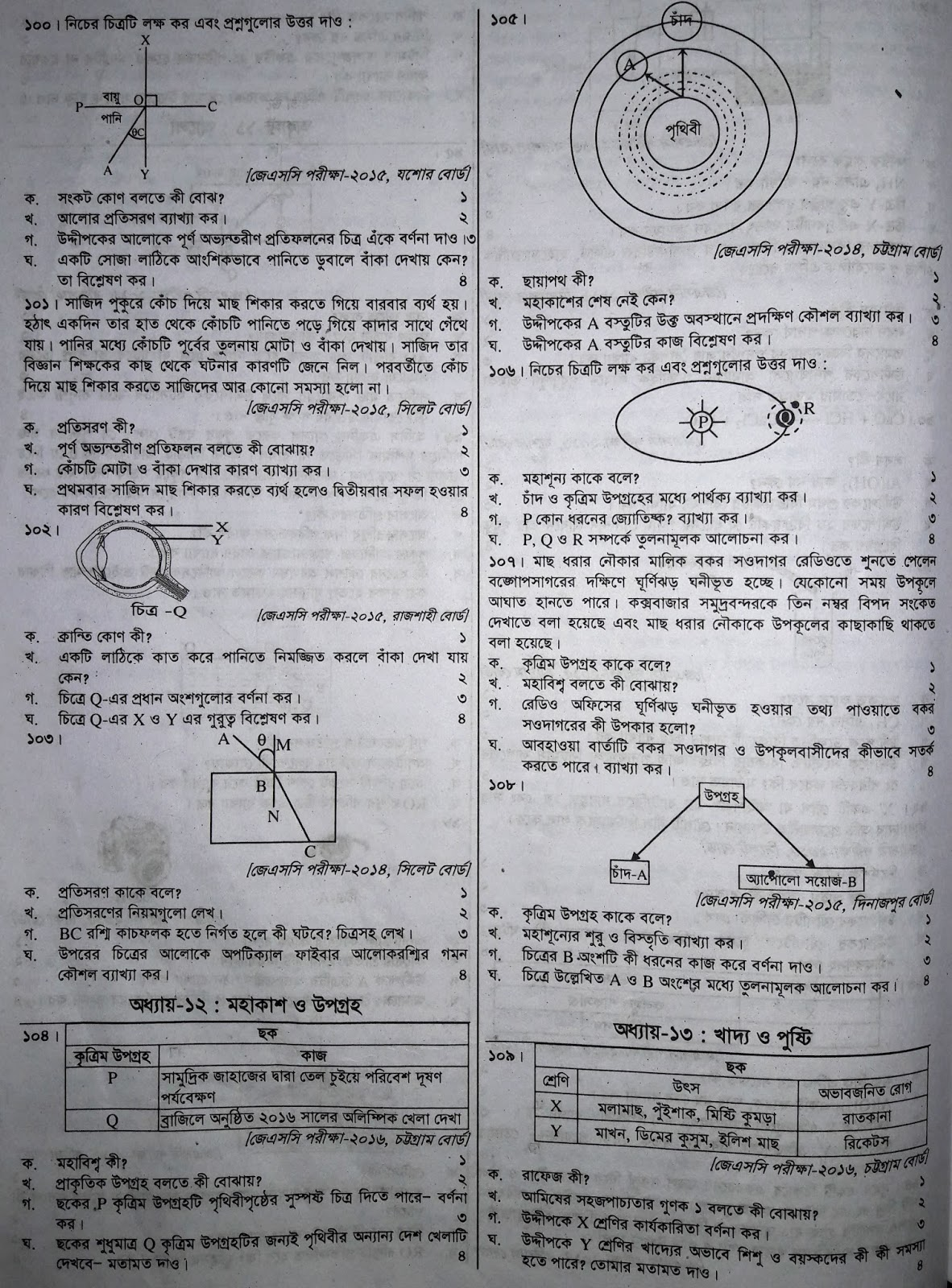 jsc science suggestion, exam question paper, model question, mcq question, question pattern, preparation for dhaka board, all boards