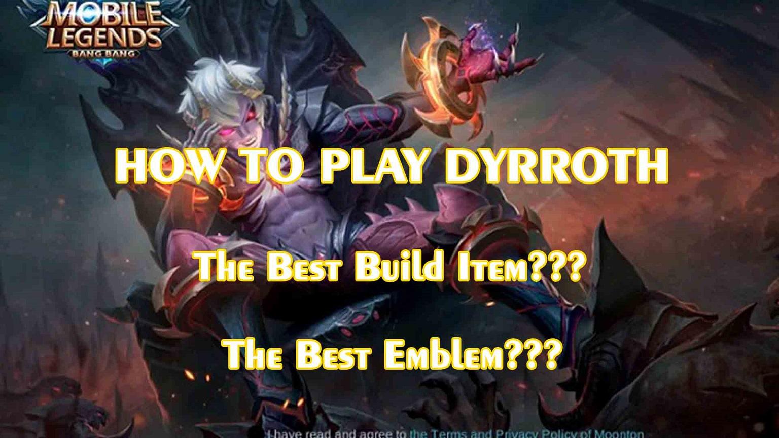 Build Itemgear Cara Counter Dan Tutorial Lengkap Dyrroth