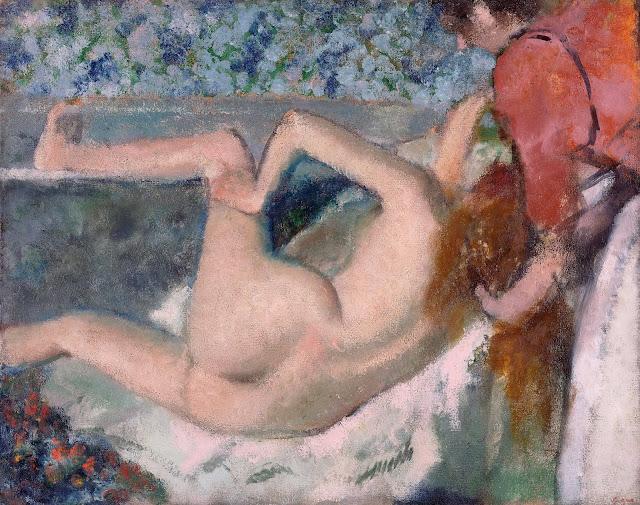 Эдгар Дега - После купания (ок.1895)