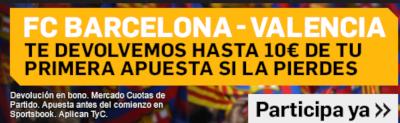 betfair apuesta sin riesgo Barcelona vs Valencia 14 septiembre 2019