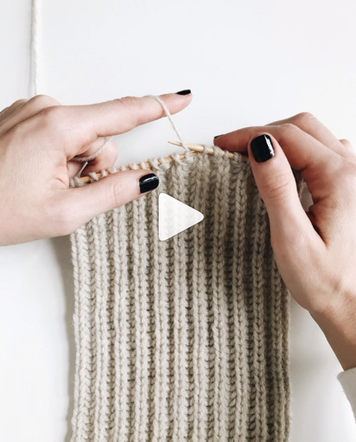 Knit Brioche Stitch - Tutorial