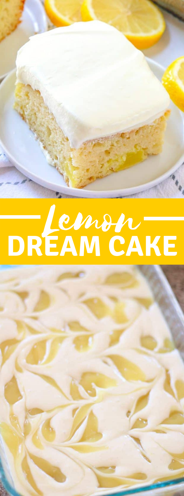 EASY LEMON DREAM CAKE  #desserts #familyrecipe