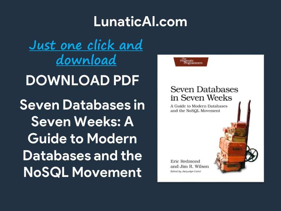 seven databases in seven weeks, second edition pdf