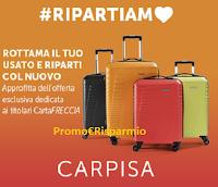 Logo Trenitalia : 30% di sconto su valige, borse e accessori Carpisa
