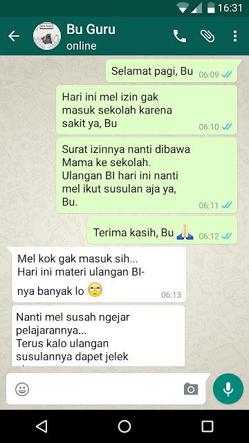 Contoh Surat Izin Sakit Lewat WhatsApp (via: edukasi.lif.co.id)