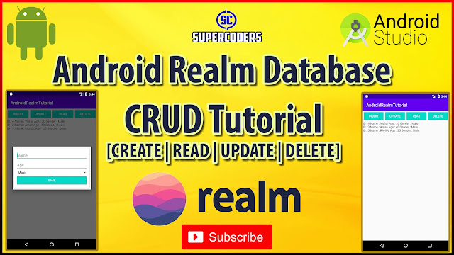 Android Realm CRUD Tutorial   [ CREATE   READ   UPDATE   DELETE ]