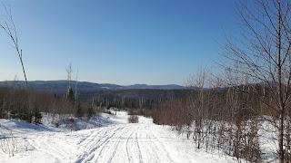 Saint-Côme, Lanaudière, paysage, l'hiver, montagnes