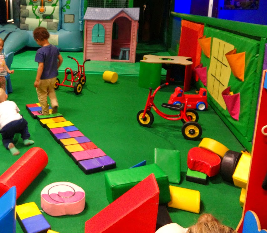 Creatively making a path at soft play