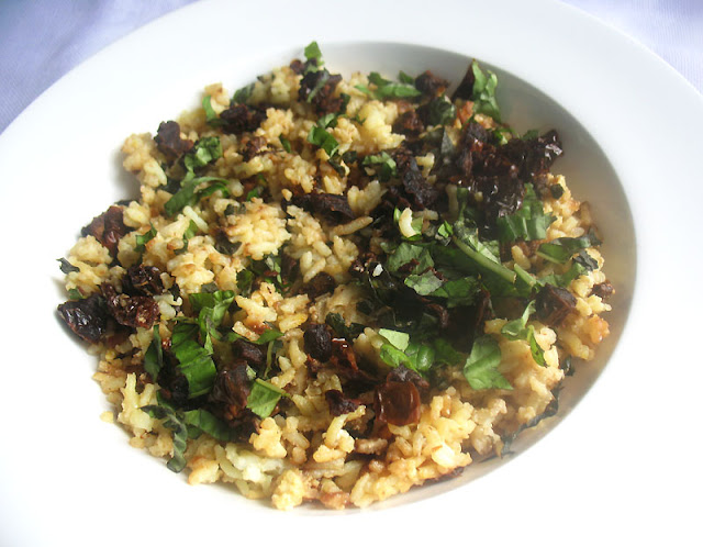 Greek-Style Rice with Sun-Dried Tomatoes and Fresh Basil