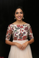 Ritu Varma smiling face Cream Anarkali dress at launch of OPPO New Selfie Camera F3 ~  Exclusive 040.JPG
