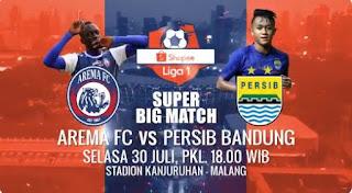 Susunan Pemain Persib Bandung Lawan Arema FC