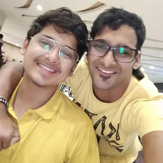 Naman Mathur with his brother Abhinav Mathur