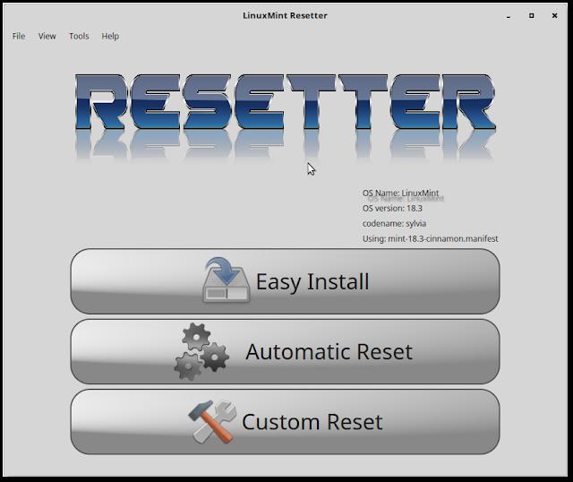شرح اعادة ضبط المصنع لتوزيعات لينكس عبر أداة Resetter