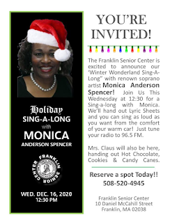 Senior Center - Parking Lot - Holiday Sing-A-Long - Dec 16