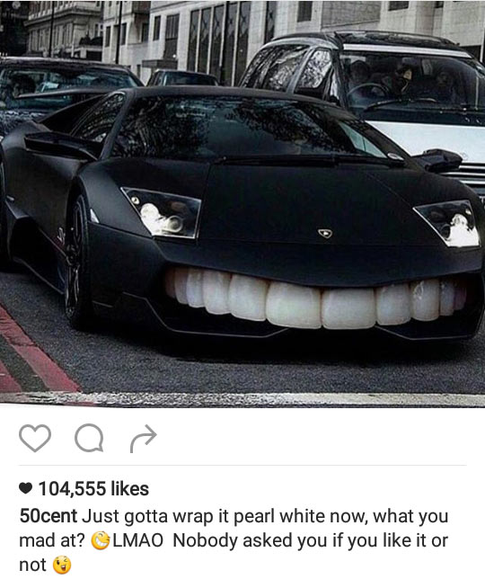 Check out the bizarre customization 50 Cent added to his car