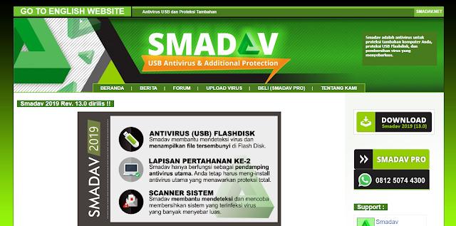 Antivirus Gratis Terbaik Yang Ringan Untuk Laptop - Smadav free antivirus