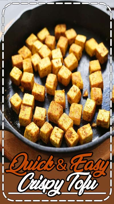 The fastest, easiest way to make crispy tofu for any dish. Just 4 ingredients and 20 minutes required! Perfect for adding to stir fries, curries and more!